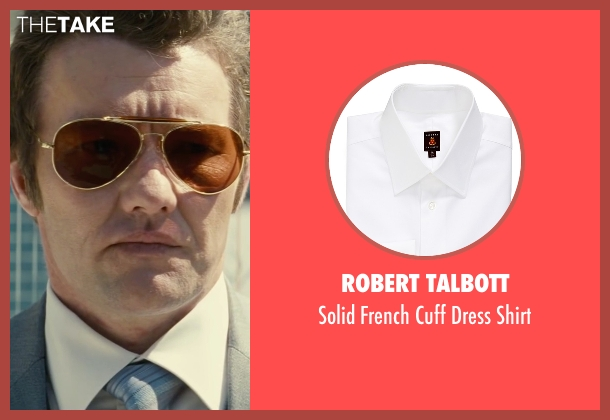 Robert Talbott white shirt from Black Mass seen with Joel Edgerton (John Connolly)