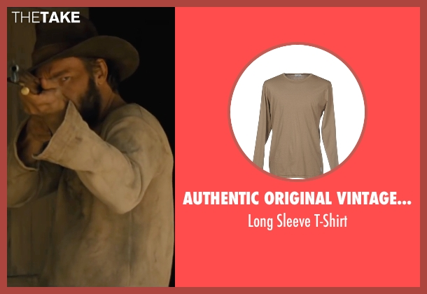 Authentic Original Vintage Style beige t-shirt from Jane Got A Gun seen with Joel Edgerton (Dan Frost)