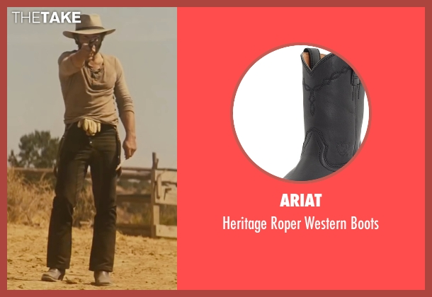 Ariat black boots from Jane Got A Gun seen with Joel Edgerton (Dan Frost)