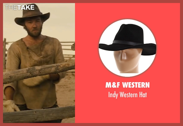 M&F Western black hat from Jane Got A Gun seen with Joel Edgerton (Dan Frost)