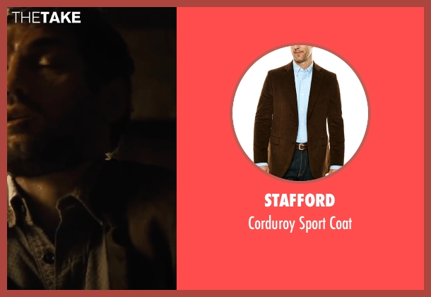 Stafford brown coat from Jane Got A Gun seen with Joel Edgerton (Dan Frost)
