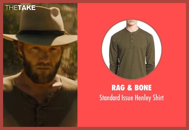 Rag & Bone brown shirt from Jane Got A Gun seen with Joel Edgerton (Dan Frost)