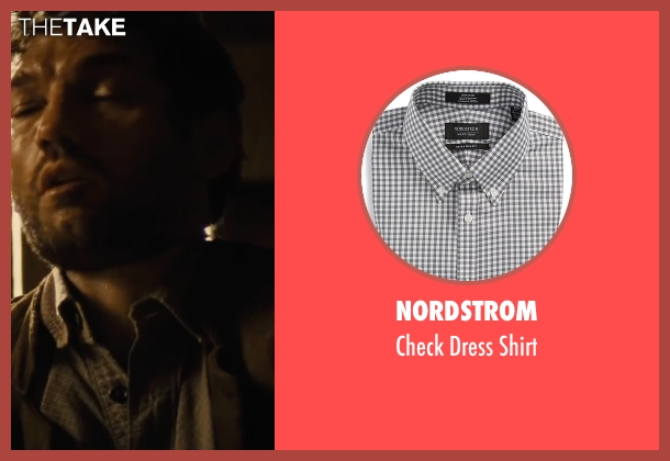 Nordstrom gray shirt from Jane Got A Gun seen with Joel Edgerton (Dan Frost)
