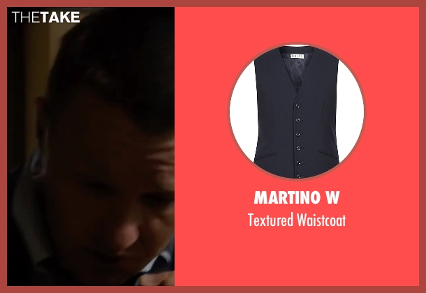 Martino W blue waistcoat from Life seen with Joel Edgerton (John Morris)