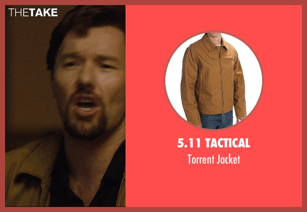 5.11 Tactical brown jacket from The Gift seen with Joel Edgerton (Gordo)