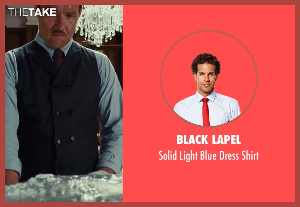 Black Lapel blue shirt from The Great Gatsby seen with Joel Edgerton (Tom Buchanan)
