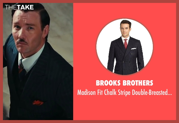Brooks Brothers blue suit from The Great Gatsby seen with Joel Edgerton (Tom Buchanan)