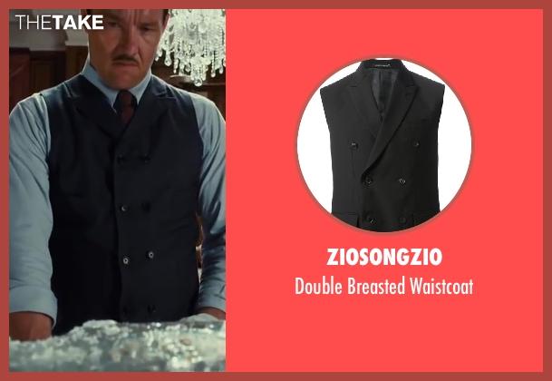 Ziosongzio blue waistcoat from The Great Gatsby seen with Joel Edgerton (Tom Buchanan)