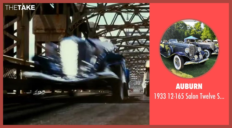 Auburn car from The Great Gatsby seen with Joel Edgerton (Tom Buchanan)