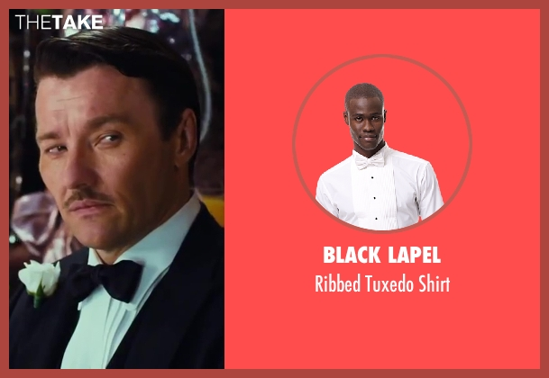 Black Lapel shirt from The Great Gatsby seen with Joel Edgerton (Tom Buchanan)