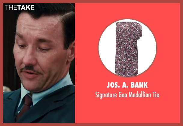 Jos. A. Bank tie from The Great Gatsby seen with Joel Edgerton (Tom Buchanan)
