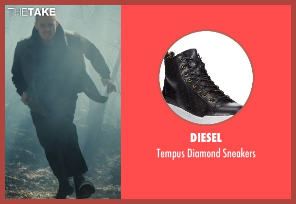 Diesel black sneakers from Run All Night seen with Joel Kinnaman (Mike Conlon)