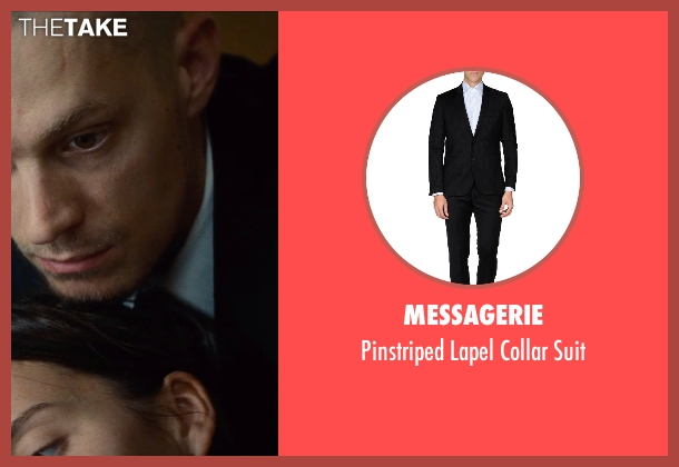 Messagerie black suit from Run All Night seen with Joel Kinnaman (Mike Conlon)