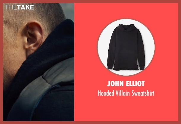 John Elliot black sweatshirt from Run All Night seen with Joel Kinnaman (Mike Conlon)