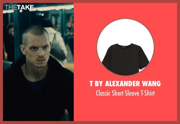 T by Alexander Wang black t-shirt from Run All Night seen with Joel Kinnaman (Mike Conlon)