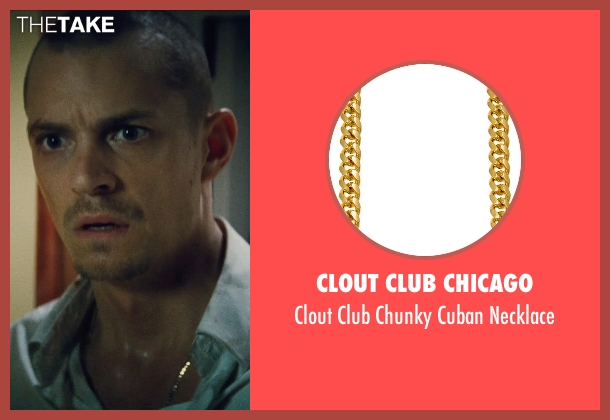 Clout Club Chicago gold necklace from Run All Night seen with Joel Kinnaman (Mike Conlon)