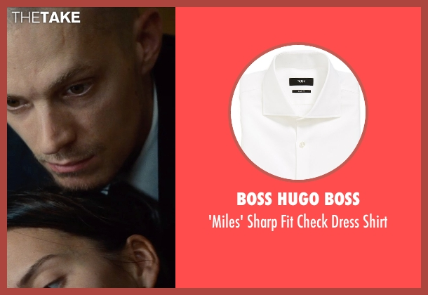 Boss Hugo Boss white shirt from Run All Night seen with Joel Kinnaman (Mike Conlon)