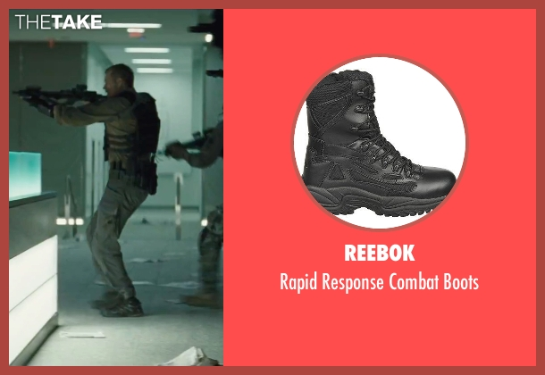 Reebok black boots from Suicide Squad seen with Joel Kinnaman (Rick Flag)