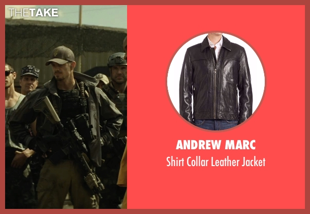 Andrew Marc black jacket from Suicide Squad seen with Joel Kinnaman (Rick Flag)