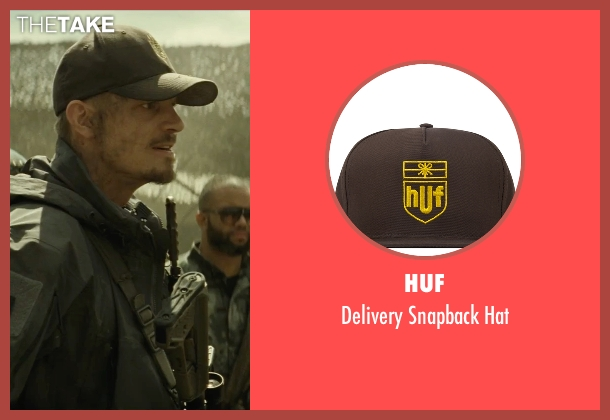 Huf brown hat from Suicide Squad seen with Joel Kinnaman (Rick Flag)