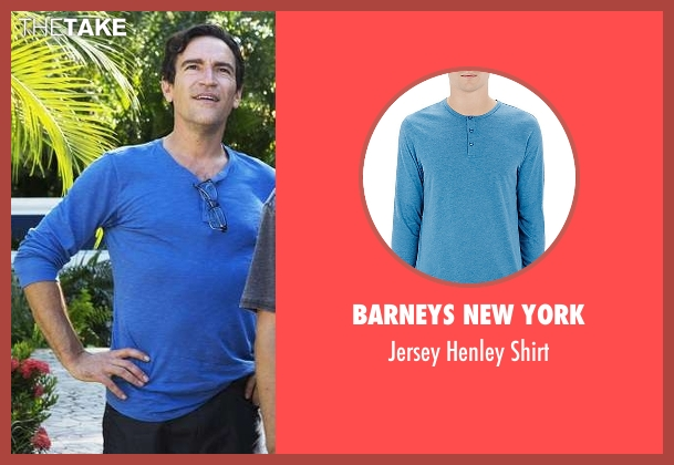 Barneys New York blue shirt from Mad Dogs seen with Joel (Ben Chaplin)