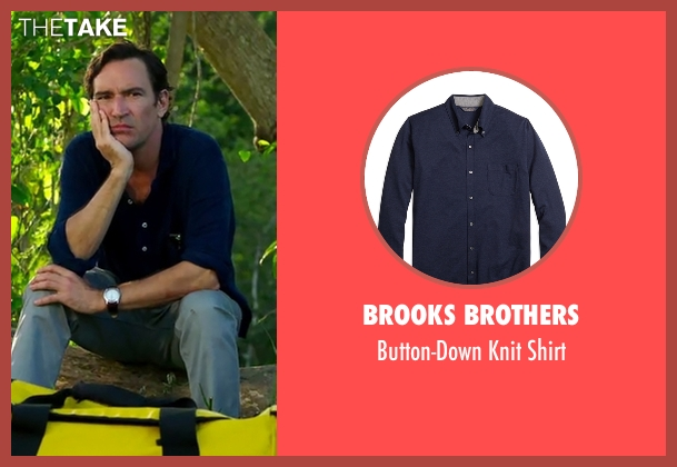 Brooks Brothers blue shirt from Mad Dogs seen with Joel (Ben Chaplin)