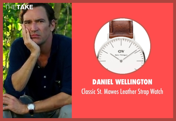 Daniel Wellington brown watch from Mad Dogs seen with Joel (Ben Chaplin)