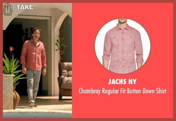 Jachs NY red shirt from Mad Dogs seen with Joel (Ben Chaplin)
