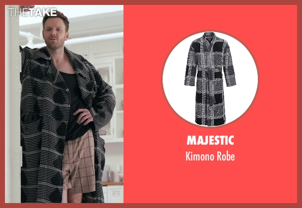 Majestic black robe from Adult Beginners seen with Joel McHale (Hudson)