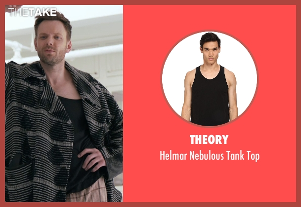 Theory black top from Adult Beginners seen with Joel McHale (Hudson)