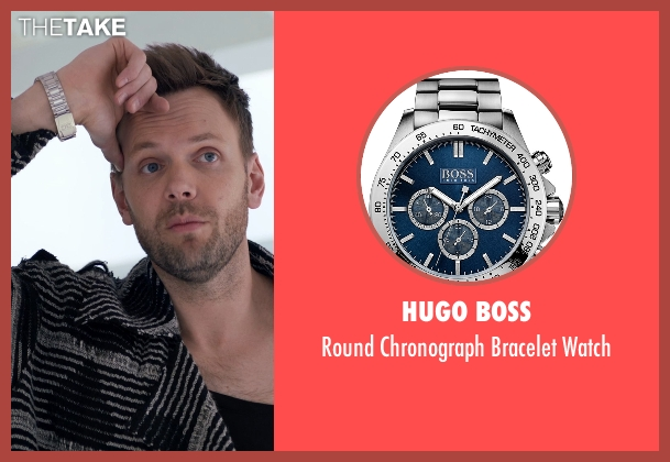 Hugo Boss silver watch from Adult Beginners seen with Joel McHale (Hudson)