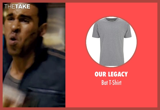 Our Legacy gray t-shirt from The Bourne Ultimatum seen with Joey Ansah (Desh)