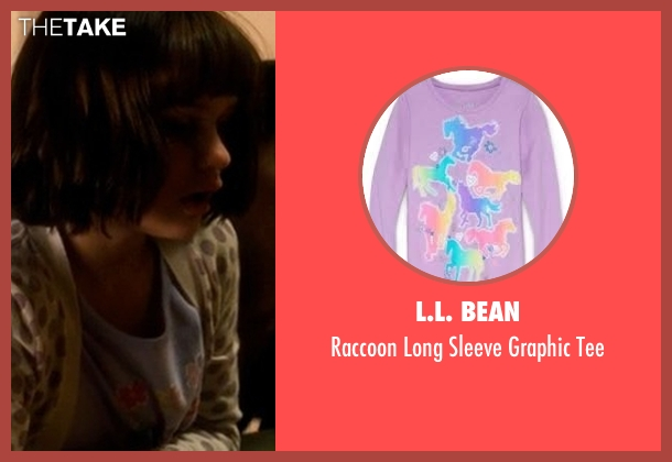 L.L. Bean purple tee from Crazy, Stupid, Love. seen with Joey King (Molly)