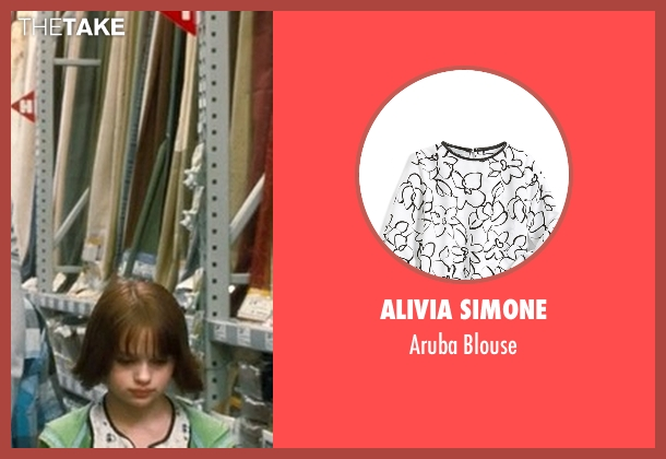 Alivia Simone white blouse from Crazy, Stupid, Love. seen with Joey King (Molly)