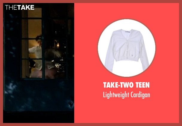 Take-Two Teen white cardigan from Crazy, Stupid, Love. seen with Joey King (Molly)