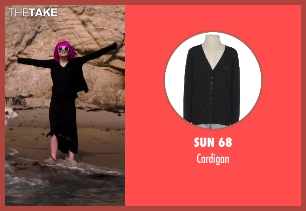 Sun 68 black cardigan from Wish I Was Here seen with Joey King (Grace)