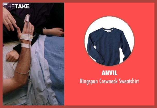 Anvil blue sweatshirt from Wish I Was Here seen with Joey King (Grace)
