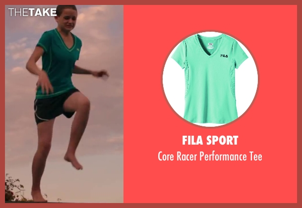 Fila Sport green tee from Wish I Was Here seen with Joey King (Grace)