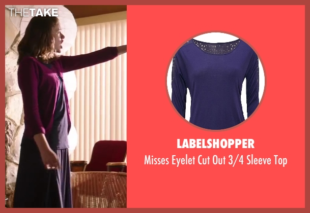LabelShopper purple top from Wish I Was Here seen with Joey King (Grace)