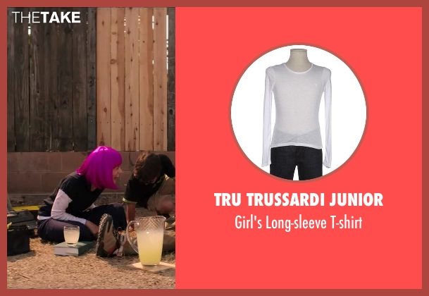 Tru Trussardi Junior white t-shirt from Wish I Was Here seen with Joey King (Grace Bloom)