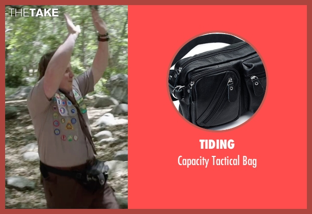 Tiding black bag from Scout's Guide to the Zombie Apocalypse seen with Joey Morgan (Augie)