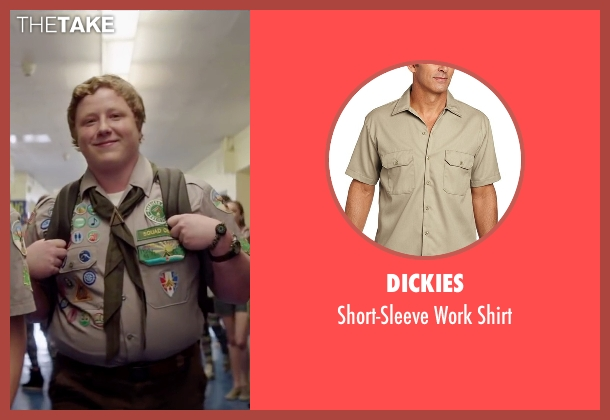 Dickies brown shirt from Scout's Guide to the Zombie Apocalypse seen with Joey Morgan (Augie)