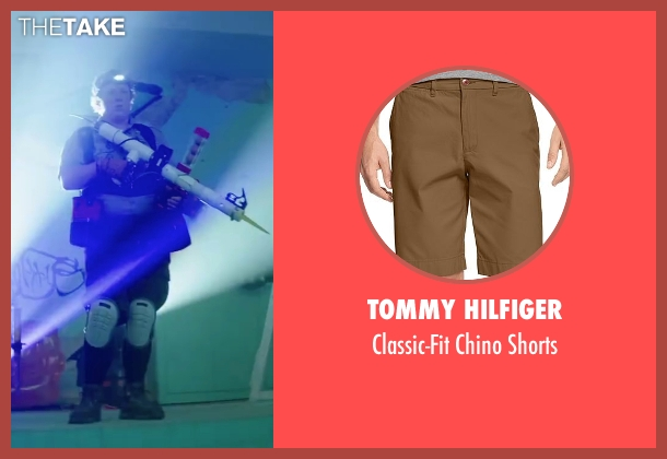 Tommy Hilfiger brown shorts from Scout's Guide to the Zombie Apocalypse seen with Joey Morgan (Augie)