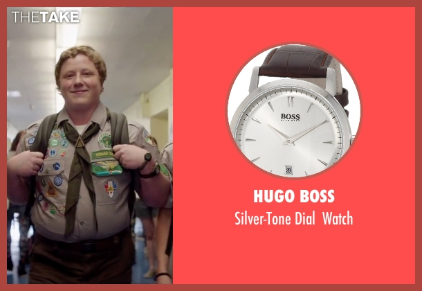 Hugo Boss brown watch from Scout's Guide to the Zombie Apocalypse seen with Joey Morgan (Augie)