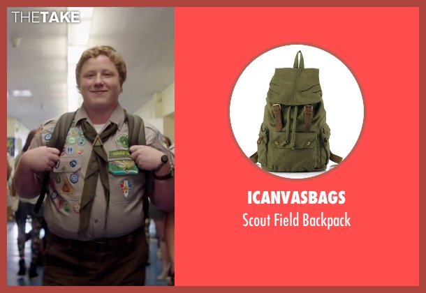 Icanvasbags green backpack from Scout's Guide to the Zombie Apocalypse seen with Joey Morgan (Augie)