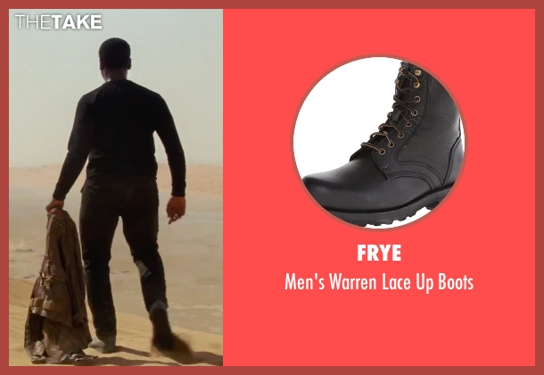 Frye black boots from Star Wars: The Force Awakens seen with John Boyega (Unknown Character)