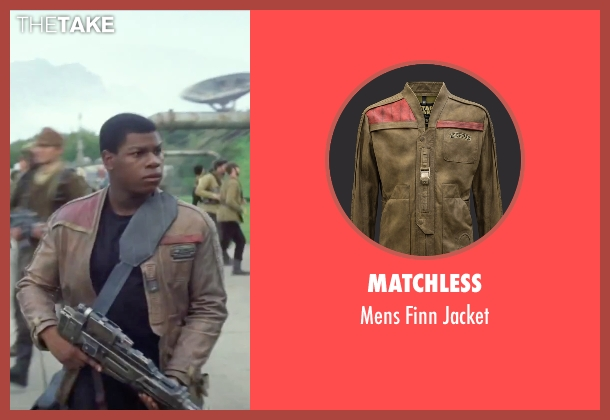 Matchless brown jacket from Star Wars: The Force Awakens seen with John Boyega (Finn)