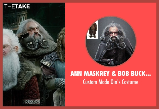 Ann Maskrey & Bob Buck (Costume Designer) costume from The Hobbit: The Battle of The Five Armies seen with John Callen (Oin)