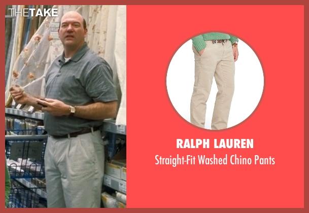 Ralph Lauren beige pants from Crazy, Stupid, Love. seen with John Carroll Lynch (Bernie Riley)
