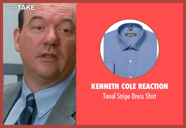 Kenneth Cole Reaction blue shirt from Crazy, Stupid, Love. seen with John Carroll Lynch (Bernie Riley)